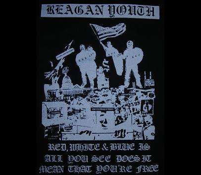 REAGAN YOUTH - Red White And Blue - Back Patch