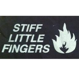 STIFF LITTLE FINGERS - Name (flame right) - Patch